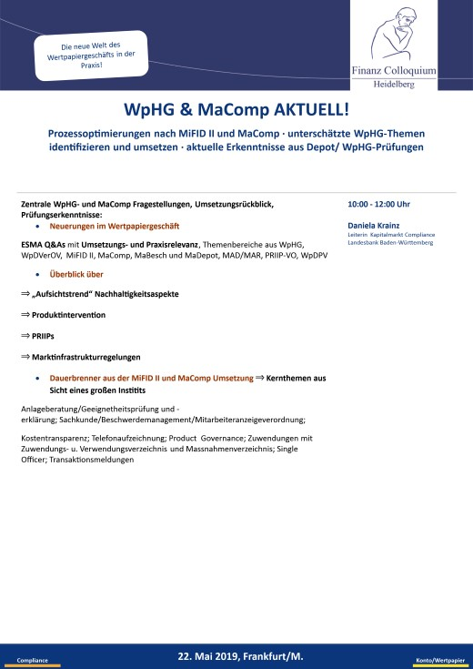 WpHG MaComp AKTUELL