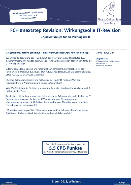 FCH nextstep Revision Wirkungsvolle ITRevision