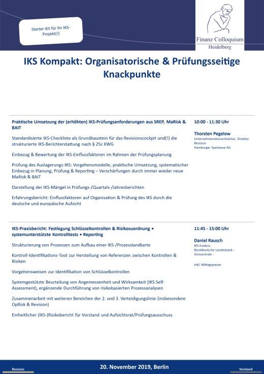 IKS Kompakt Organisatorische Pruefungsseitige Knackpunkte