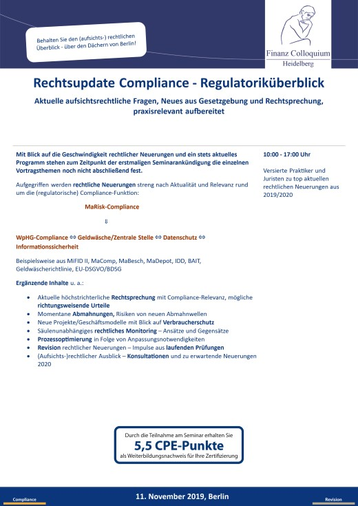 Rechtsupdate Compliance Regulatorikueberblick