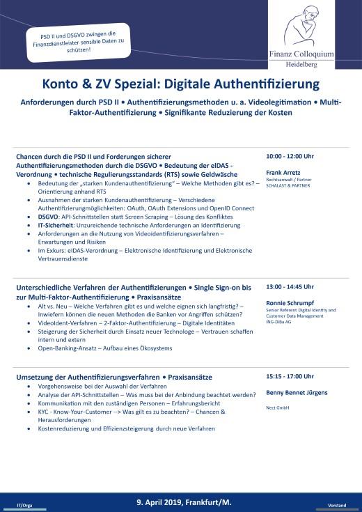 Konto ZV Spezial Digitale Authentifizierung