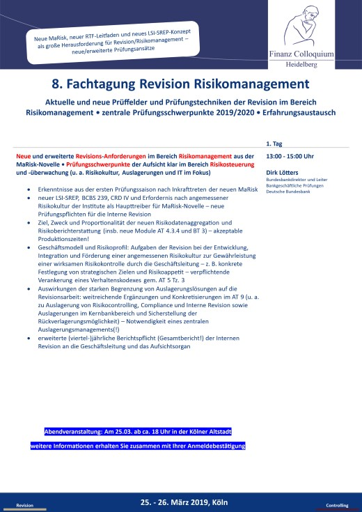 8 Fachtagung Revision Risikomanagement