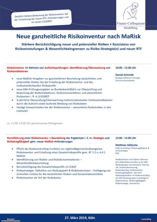Neue ganzheitliche Risikoinventur nach MaRisk