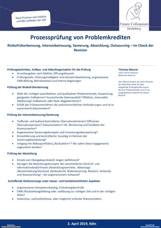 Prozesspruefung von Problemkrediten