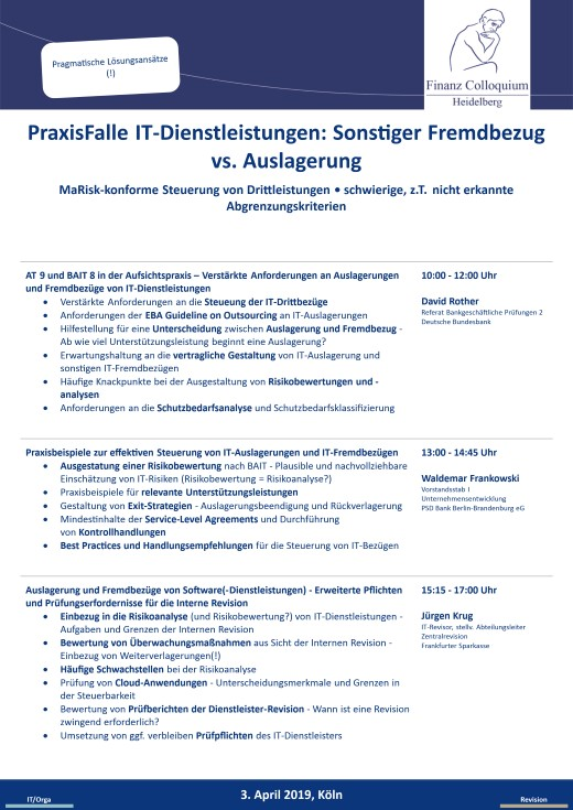 PraxisFalle ITDienstleistungen Sonstiger Fremdbezug vs Auslagerung