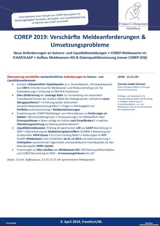 COREP 2019 Verschaerfte Meldeanforderungen Umsetzungsprobleme
