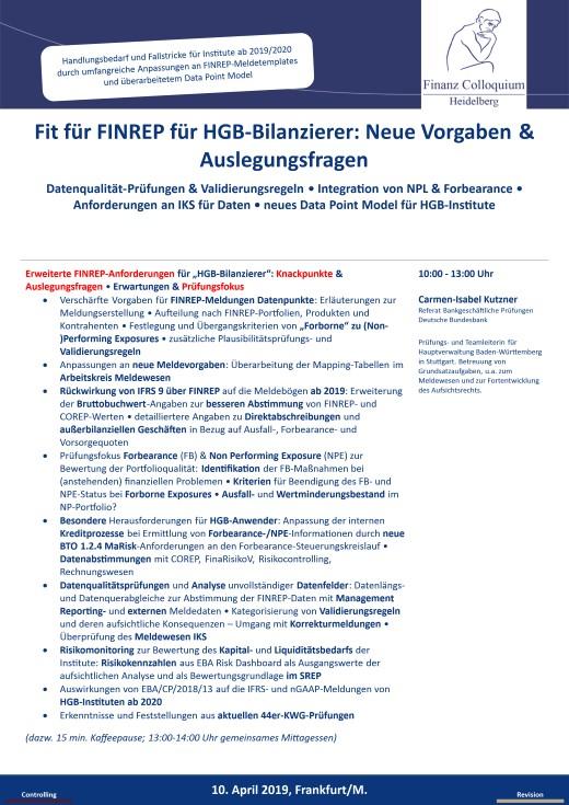 Fit fuer FINREP fuer HGBBilanzierer Neue Vorgaben Auslegungsfragen