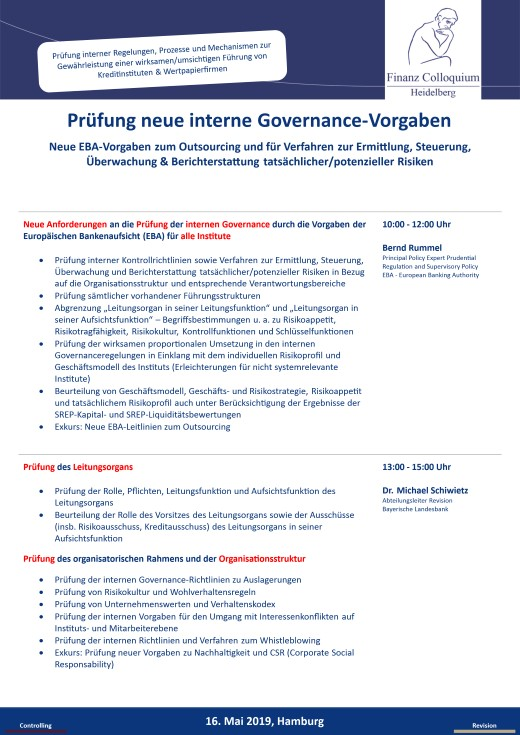 Pruefung neue interne GovernanceVorgaben