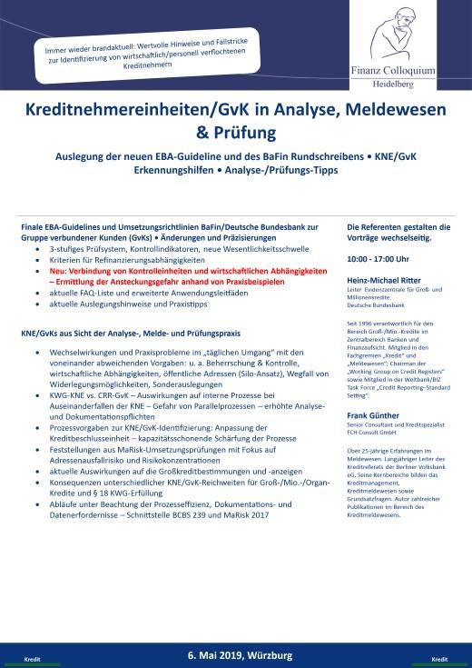 KreditnehmereinheitenGvK in Analyse Meldewesen Pruefung