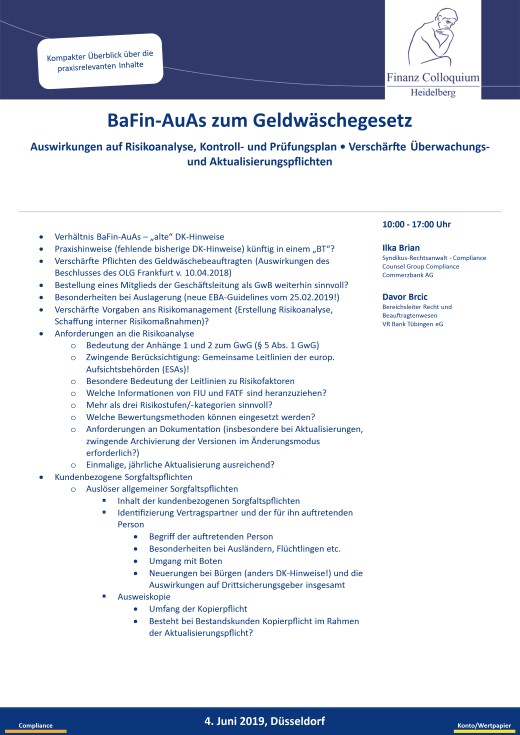 BaFinAuAs zum Geldwaeschegesetz