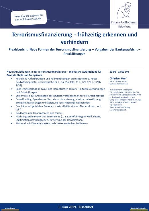Terrorismusfinanzierung fruehzeitig erkennen und verhindern