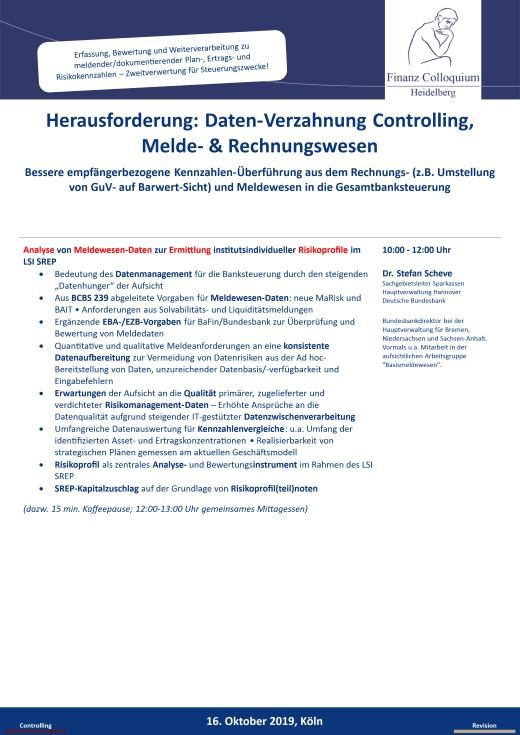 Herausforderung DatenVerzahnung Controlling Melde Rechnungswesen
