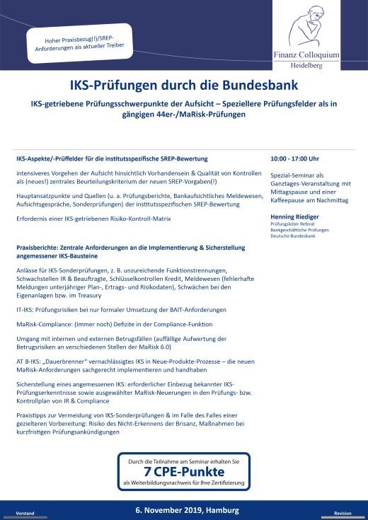 IKSPruefungen durch die Bundesbank