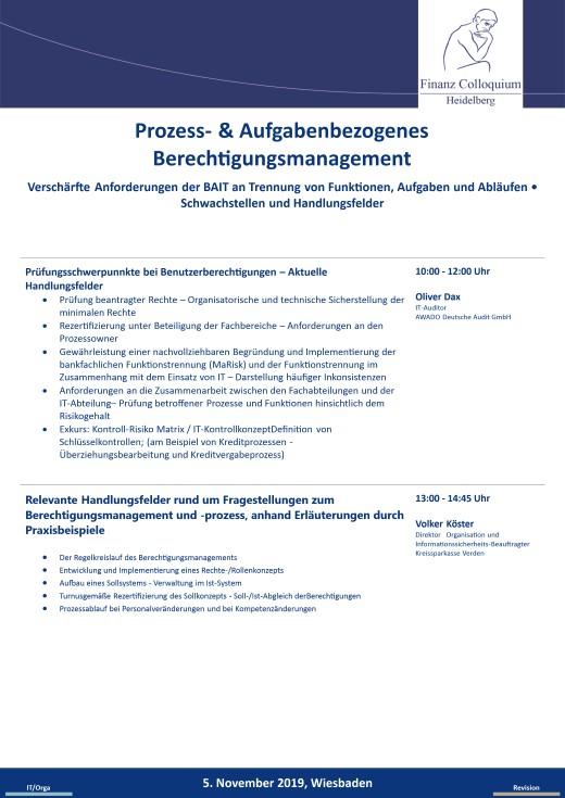 Prozess Aufgabenbezogenes Berechtigungsmanagement