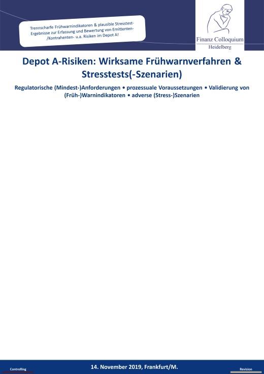 Depot ARisiken Wirksame Fruehwarnverfahren StresstestsSzenarien