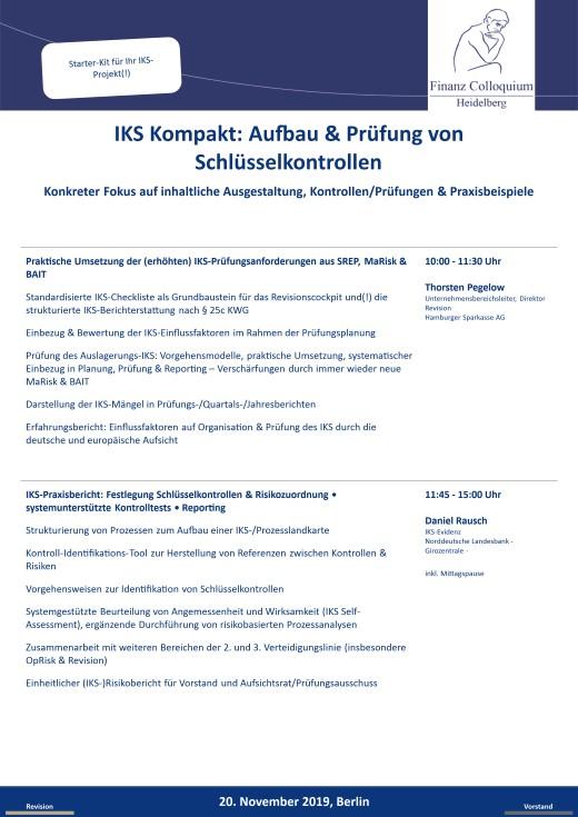 IKS Kompakt Aufbau Pruefung von Schluesselkontrollen