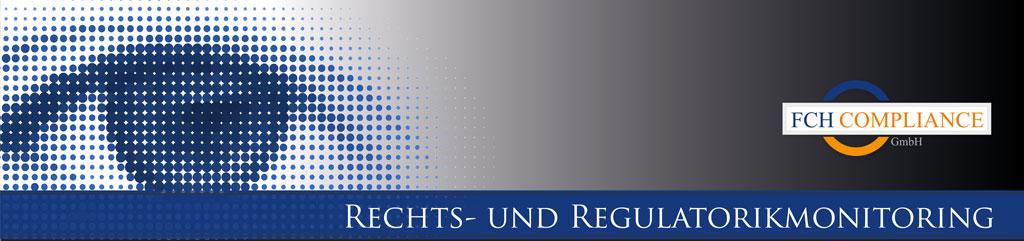 Rechts- und Regulationsmonitoring Banner