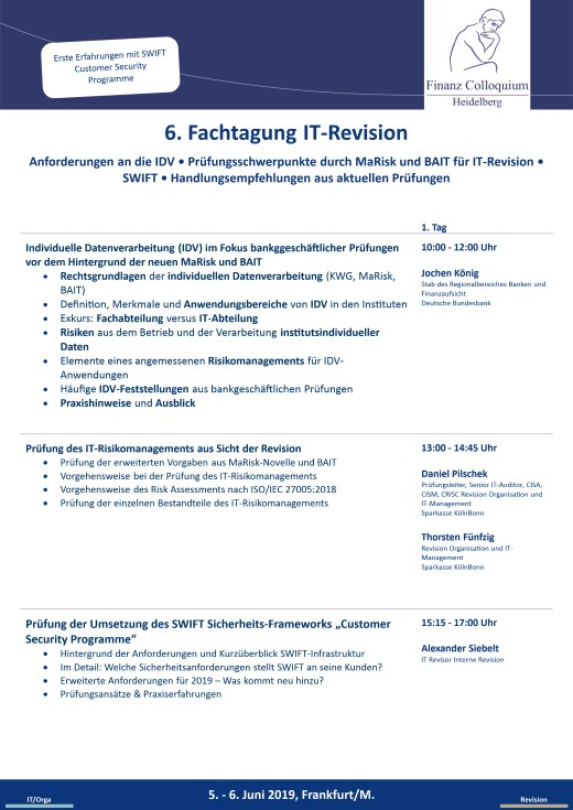6 Fachtagung ITRevision