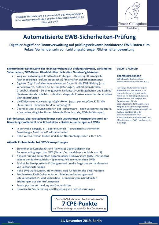 Automatisierte EWBSicherheitenPruefung