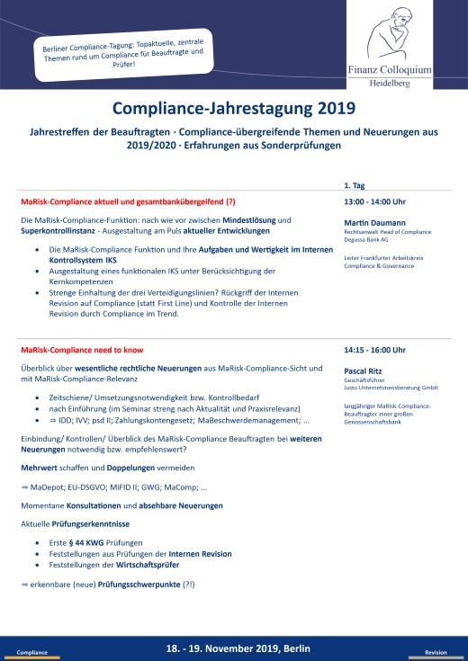 ComplianceJahrestagung 2019