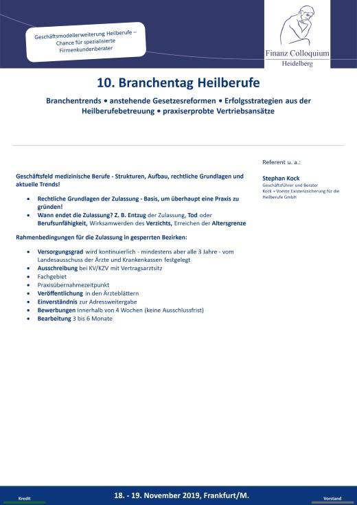 10 Branchentag Heilberufe
