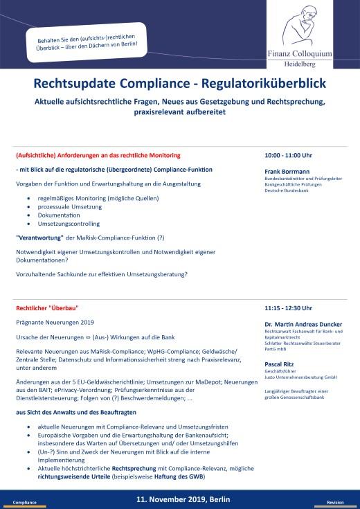 Rechtsupdate Compliance Regulatorikueberblick