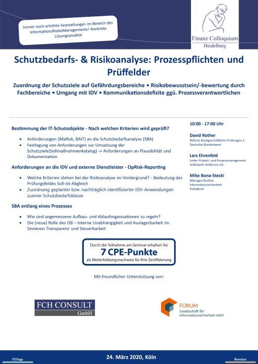 Schutzbedarfs Risikoanalyse Prozesspflichten und Prueffelder