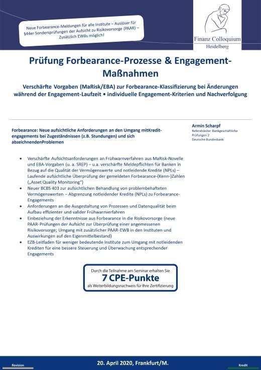 Pruefung ForbearanceProzesse EngagementManahmen