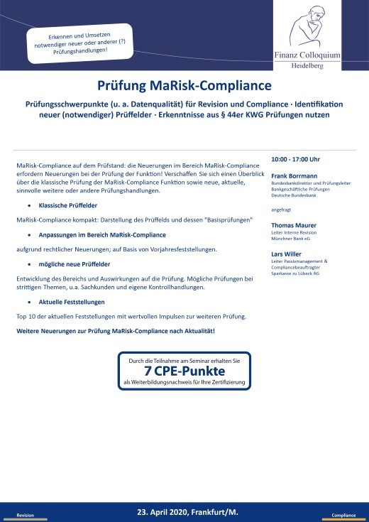 Pruefung MaRiskCompliance