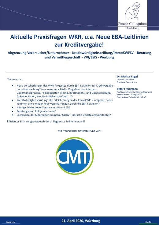 Aktuelle Praxisfragen WKR ua Neue EBALeitlinien zur Kreditvergabe