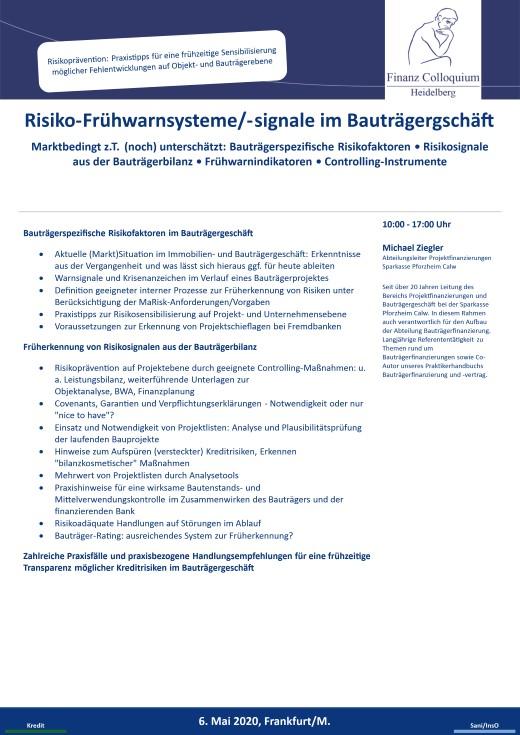 RisikoFruehwarnsystemesignale im Bautraegergschaeft