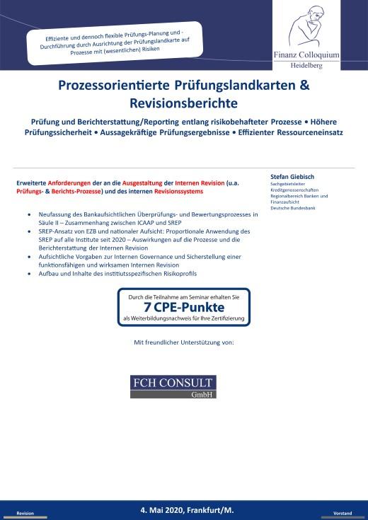 Prozessorientierte Pruefungslandkarten Revisionsberichte
