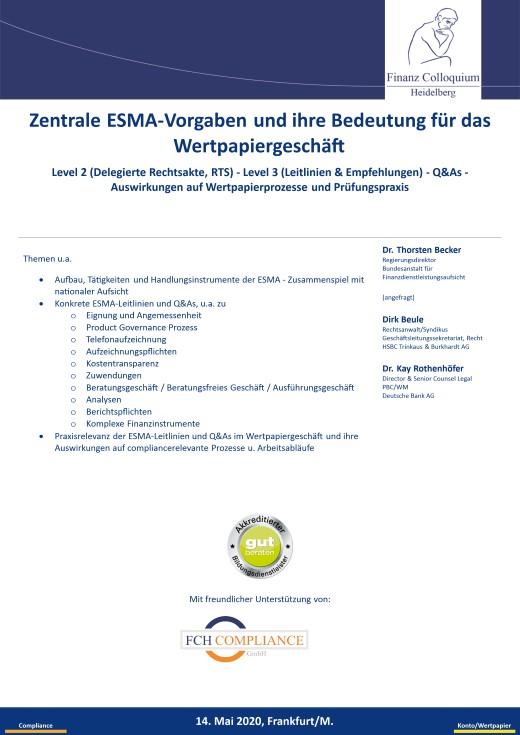 Zentrale ESMAVorgaben und ihre Bedeutung fuer das Wertpapiergeschaeft