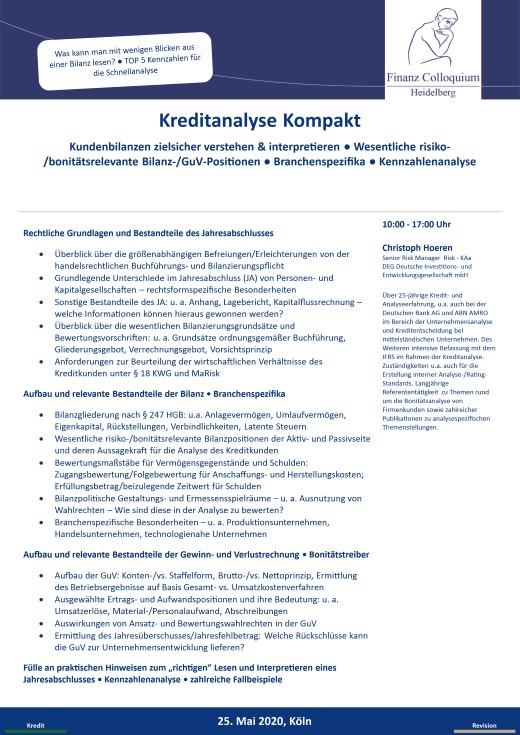 Kreditanalyse Kompakt