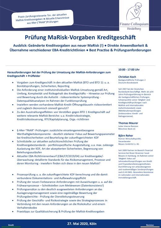 Pruefung MaRiskVorgaben Kreditgeschaeft