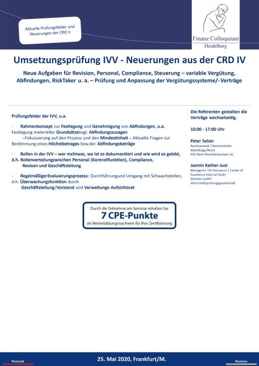 Umsetzungspruefung IVV Neuerungen aus der CRD IV