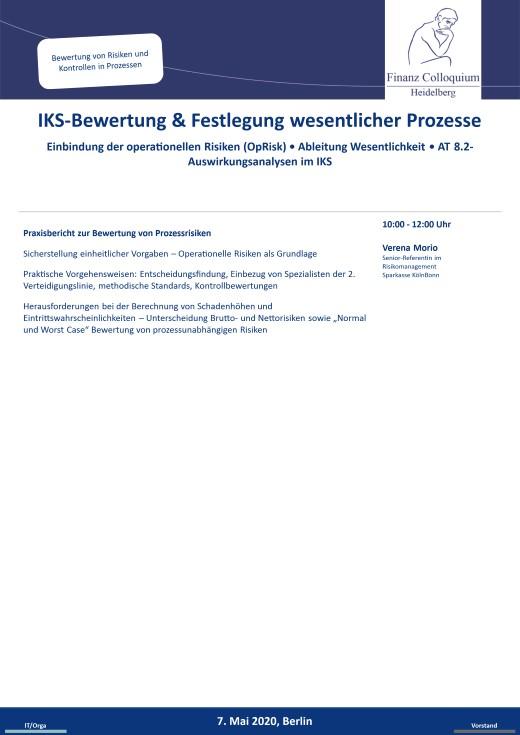 IKSBewertung Festlegung wesentlicher Prozesse