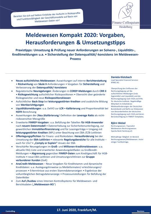 Meldewesen Kompakt 2020 Vorgaben Herausforderungen Umsetzungstipps