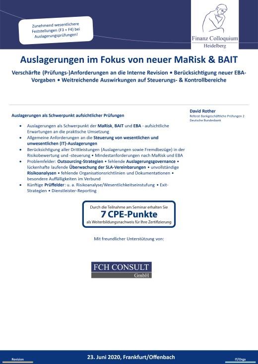 Auslagerungen im Fokus von neuer MaRisk BAIT