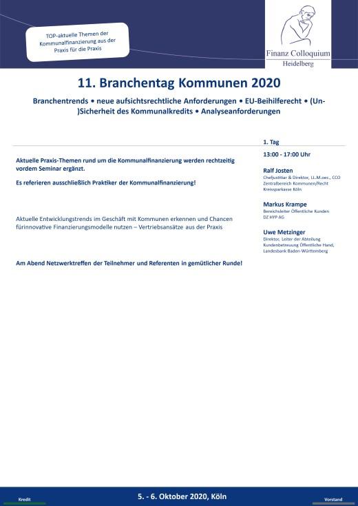 11 Branchentag Kommunen 2020