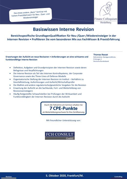 Basiswissen Interne Revision