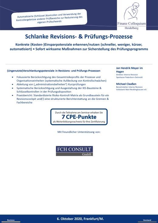 Schlanke Revisions PruefungsProzesse