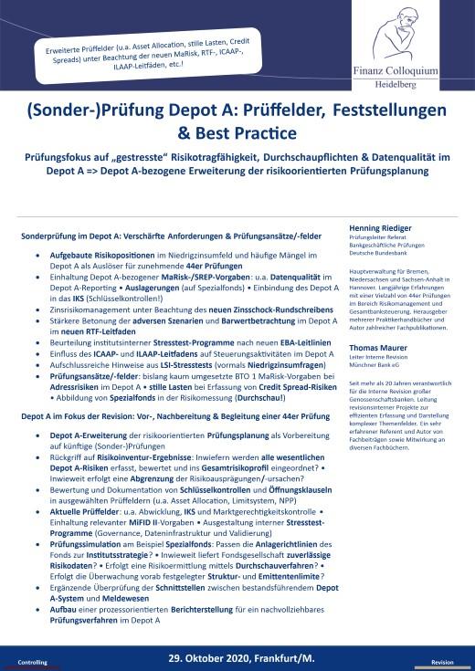 SonderPruefung Depot A Prueffelder Feststellungen Best Practice