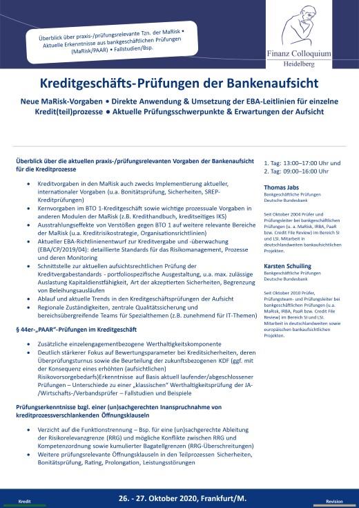 KreditgeschaeftsPruefungen der Bankenaufsicht