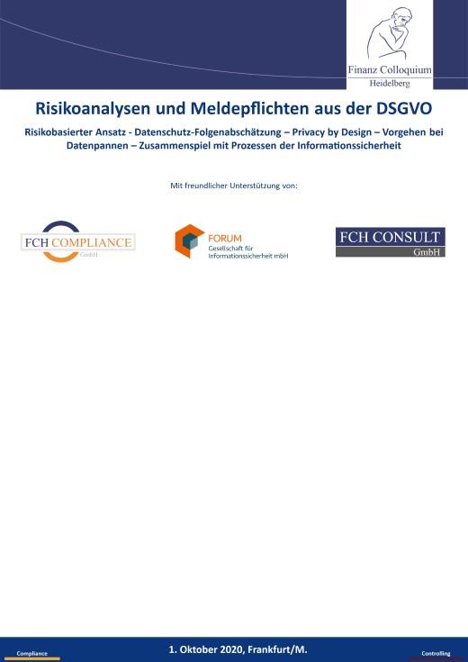 Risikoanalysen und Meldepflichten aus der DSGVO