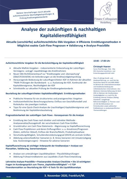 Analyse der zukuenftigen nachhaltigen Kapitaldienstfaehigkeit
