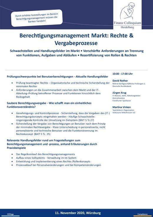 Berechtigungsmanagement Markt Rechte Vergabeprozesse