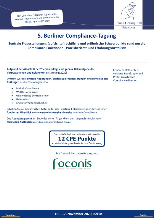 5 Berliner ComplianceTagung