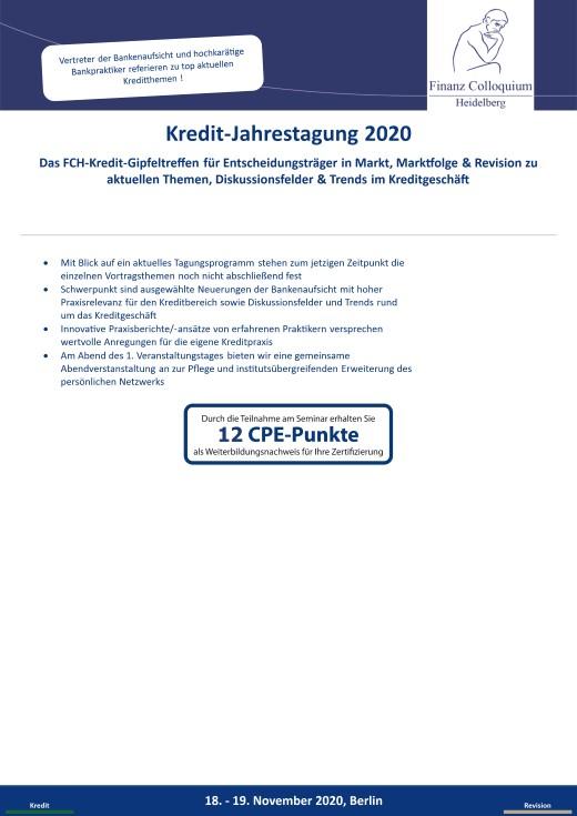 KreditJahrestagung 2020