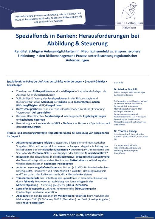 Spezialfonds in Banken Herausforderungen bei Abbildung Steuerung